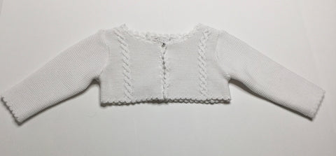 Sarah Louise Cardigan Sweater white