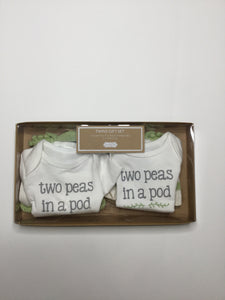 Mud Pie Twin Two Peas in a Pod Gift Set