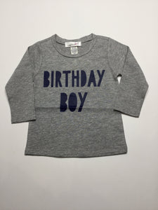 Sweet Wink Grey Birthday Boy long sleeve