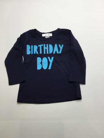 Birthday Boy Navy Long Sleeve T
