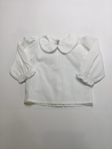 Sweet Dreams Scalloped Collared Shirt white