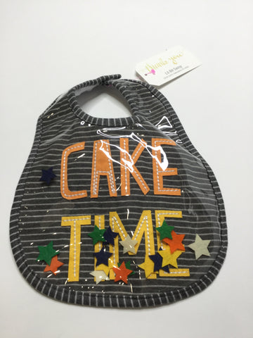 Mud Pie Bib Cake Time