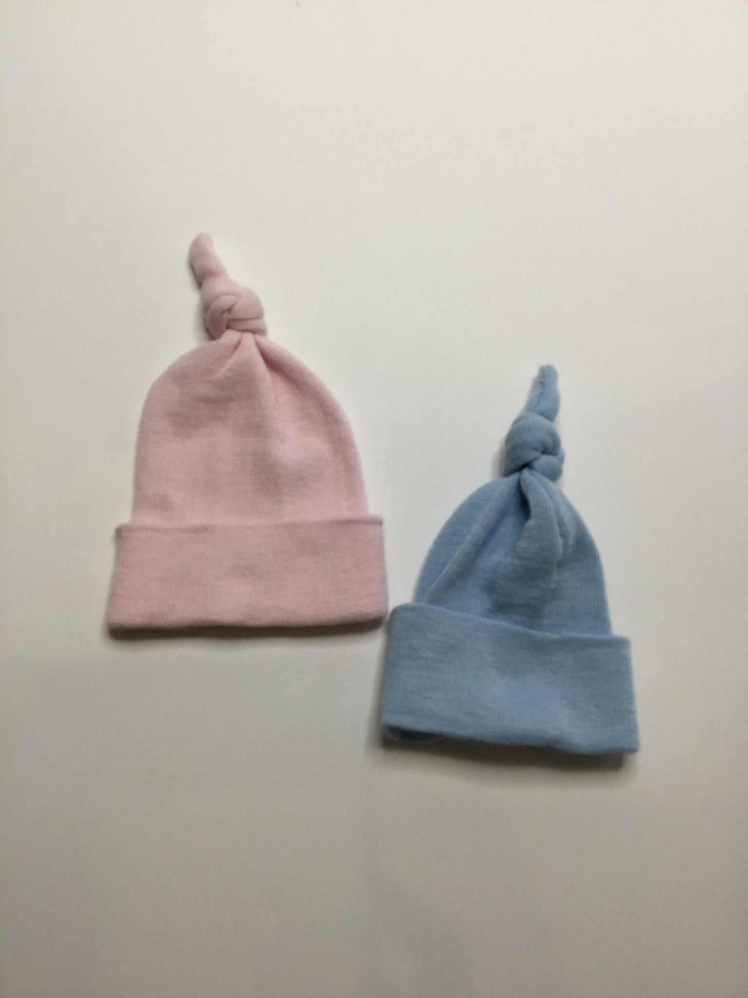 Preemie Beanies with Knot