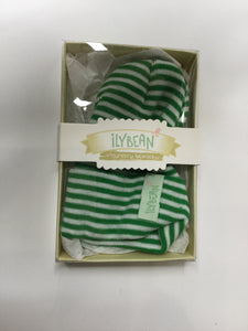 Ilybean Nursery Beanies Grren & White Striped