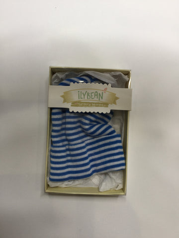 Ilybean Nursery Beanies Royal Blue & White