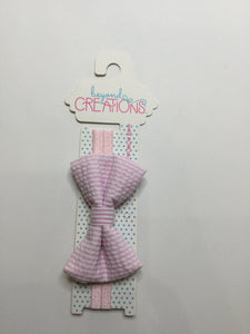 Beyond Creations Striped Bow Ties Pink