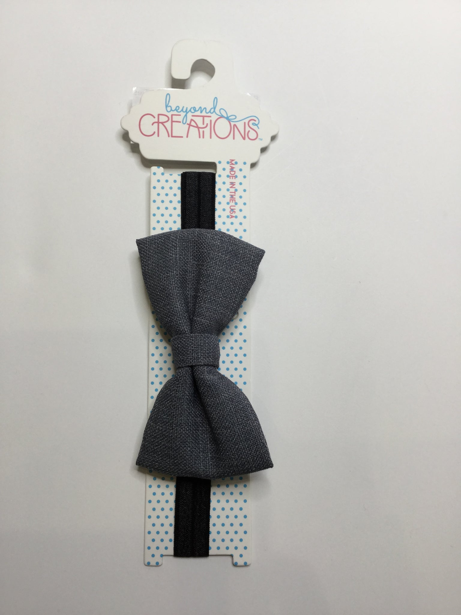 Beyond Creations Solid Bow Ties Charcoal