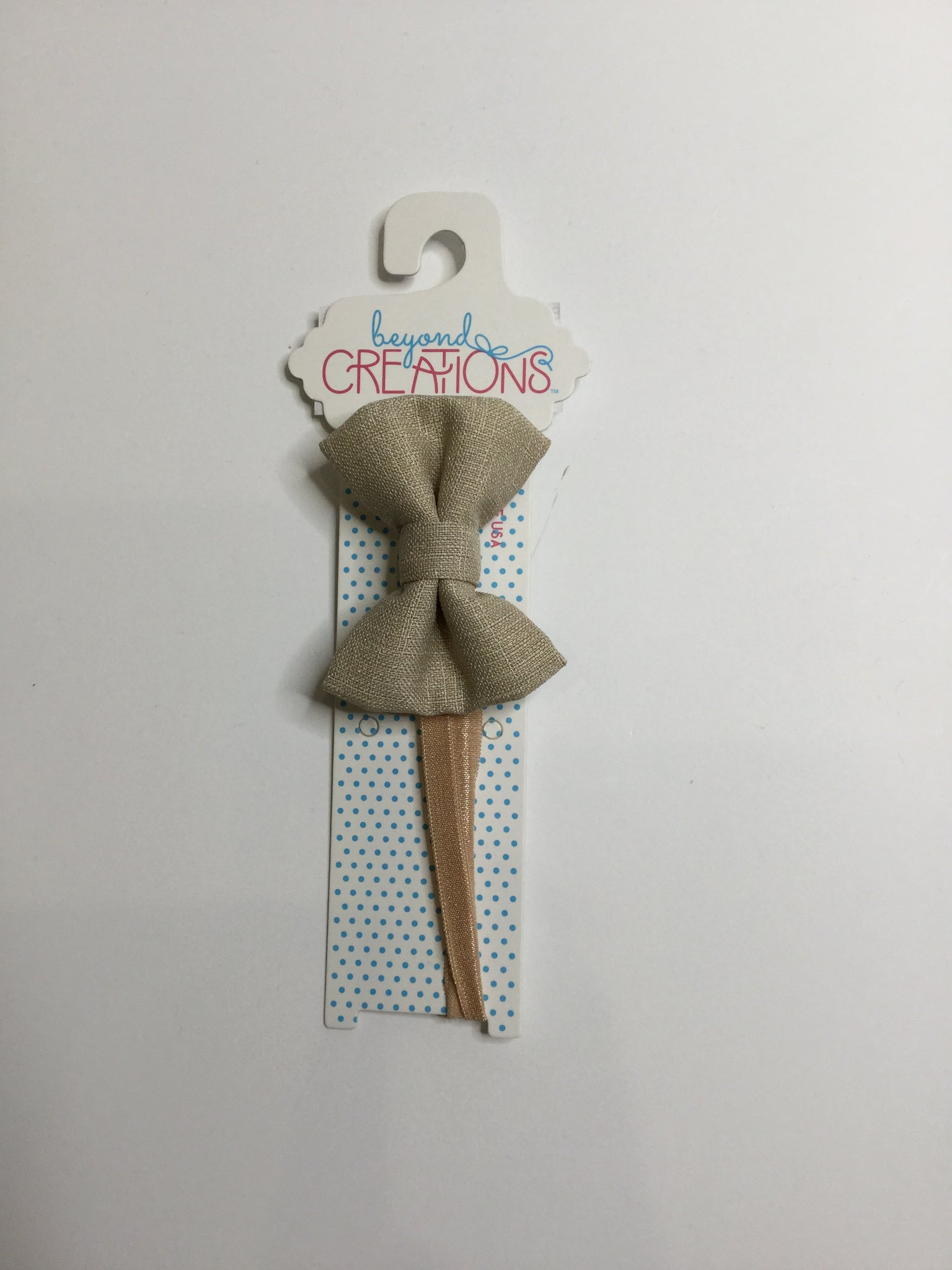 Beyond Creations Solid Bow Ties Tan