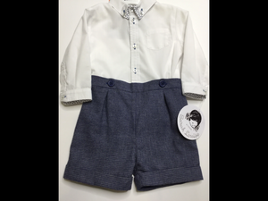 Sarah Louise Classic Paisley w/Plaid Shorts Boys Set