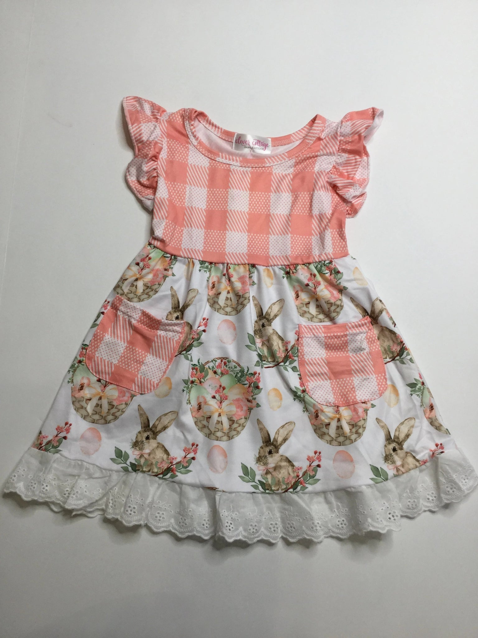 Peach Bunny CC Dress