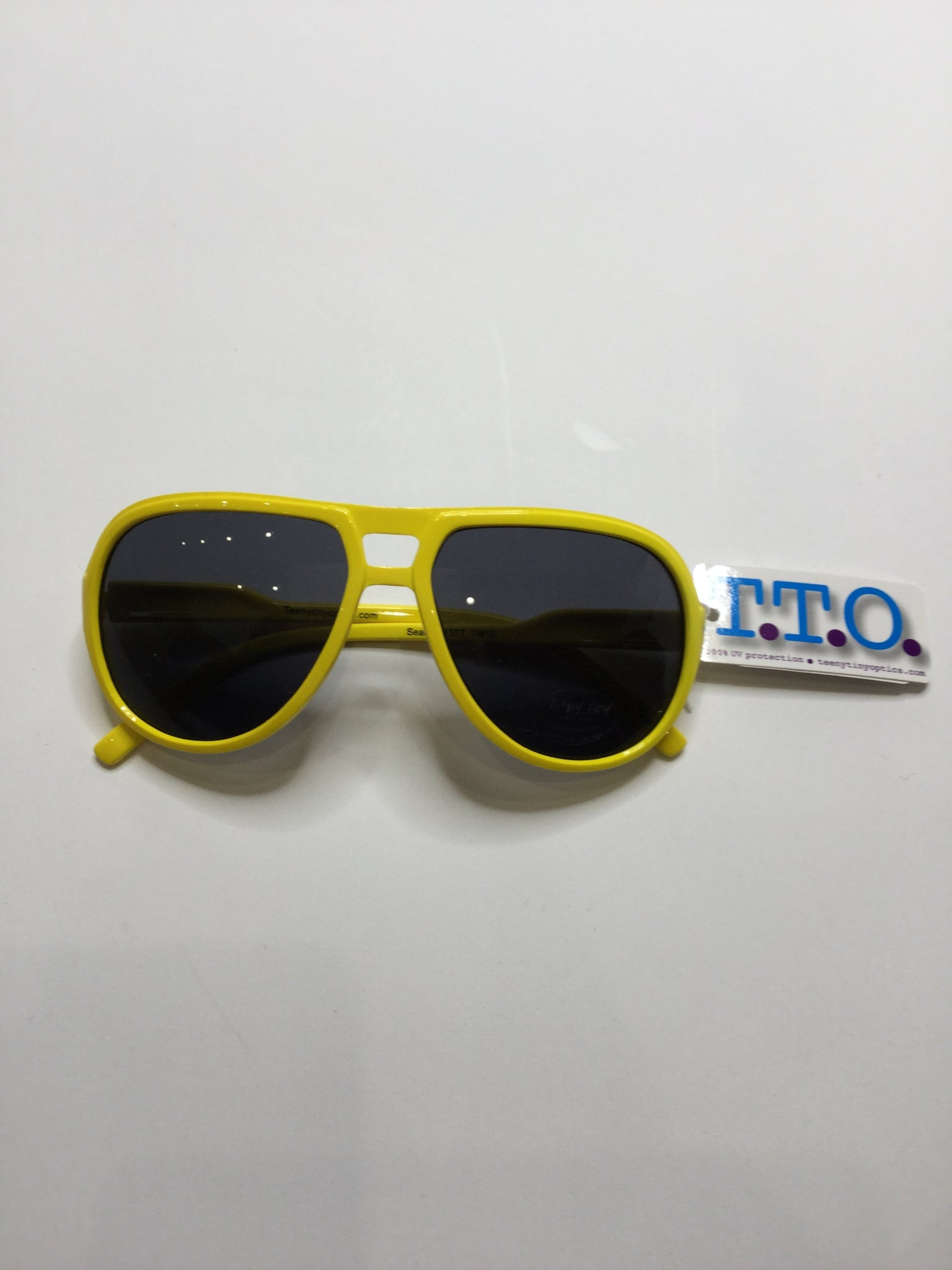 Aviator Sunglasses - Bright Yellow