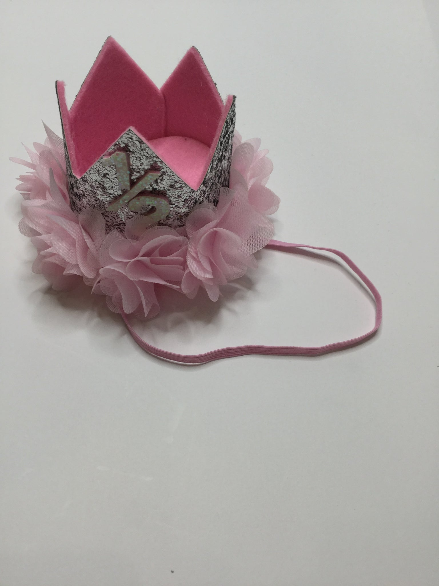 """ONE"" Crown Silver/Pink"