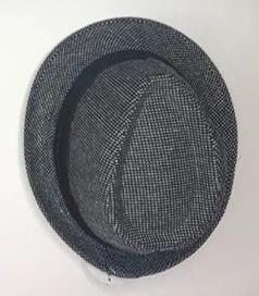 Fedora Hat grey/black