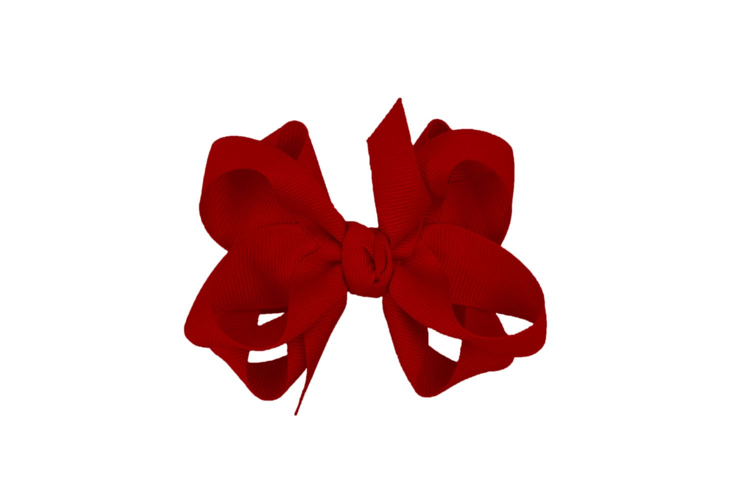 "8.5"" Alligator Clip Hair Bow Cranberry"