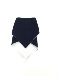 Navy Blue Reversible Bandana Bib