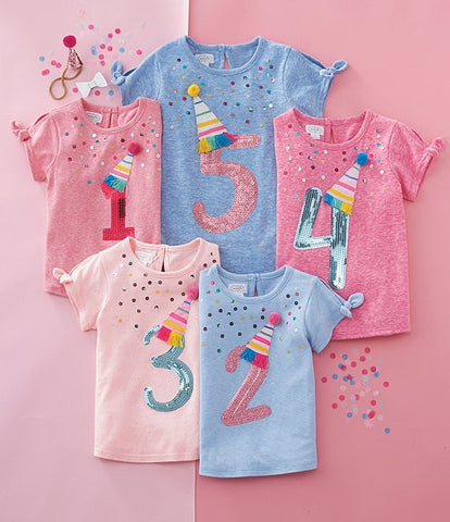 Mud Pie GIRL Birthday Shirt
