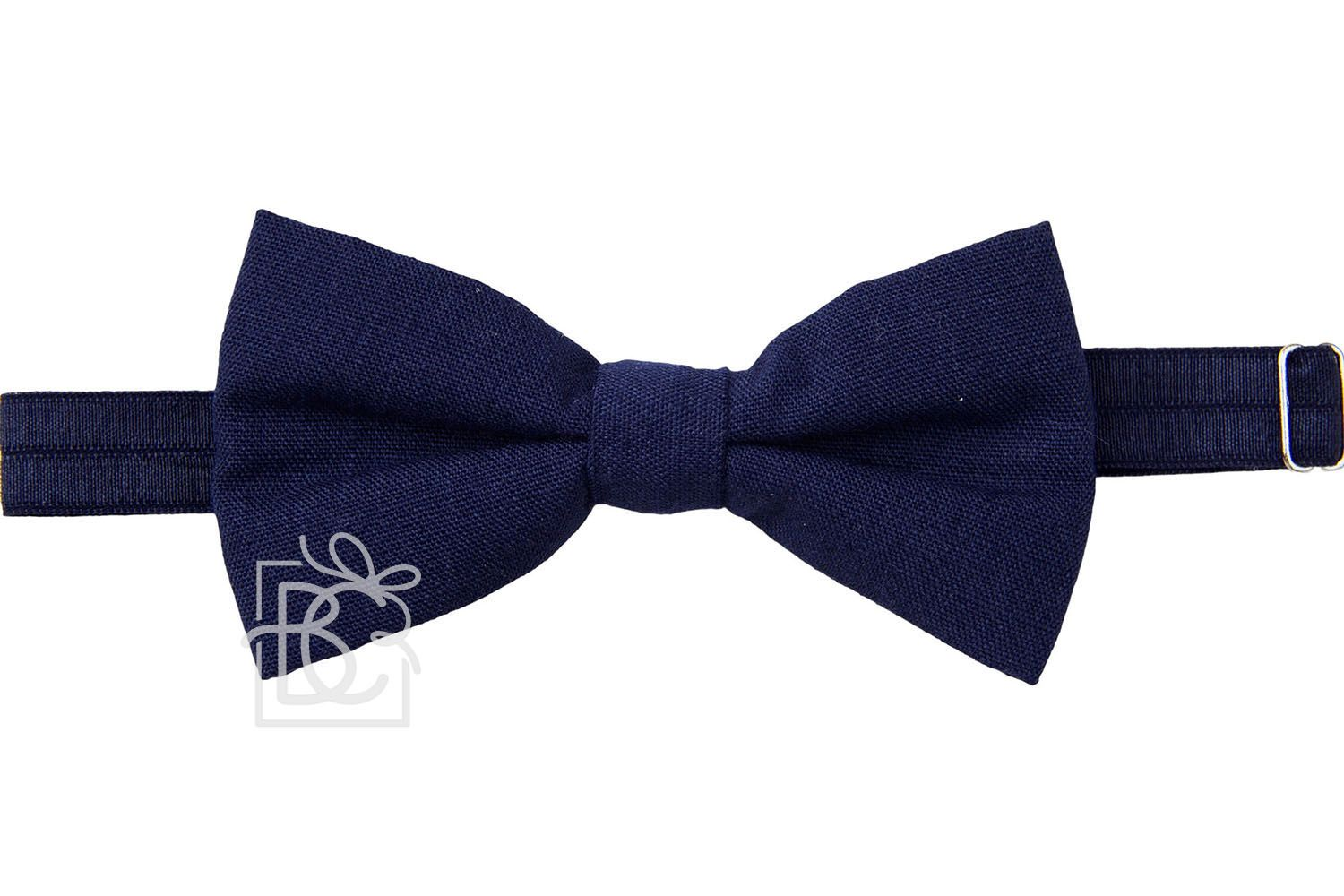 Beyond Creations Solid Bow Ties Navy