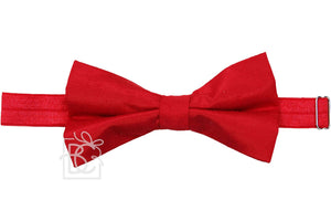 Beyond Creations Solid Bow Ties Red