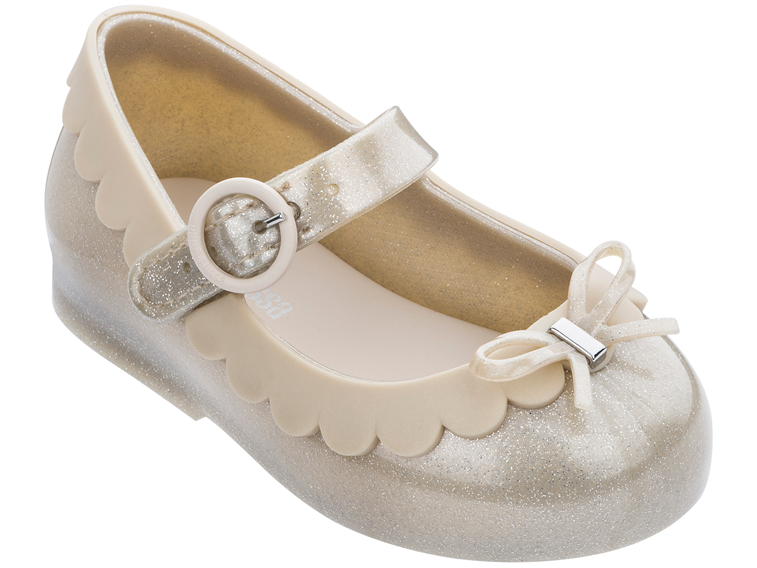 Mini Melissa Beige Glitter Sweet Love II
