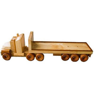 FT1 - Flat Bed Truck - Handmade Wooden Truck