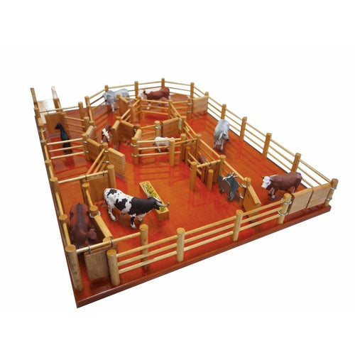 Combo Deal - XMas Deal - CY8 Station  Cattle Yard & CT3 B-Double Cattle Truck - FREE SHIPPING