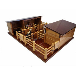 ST4 - Four Horse Stable with Tack Shed and Yard
