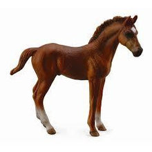 Load image into Gallery viewer, Horses - Thoroughbred Foal (Chestnut standing) - Collecta