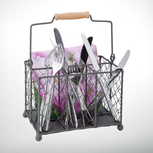Boho Chickenwire Cutlery Holder
