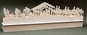 Wood Nativity Light-up Scene