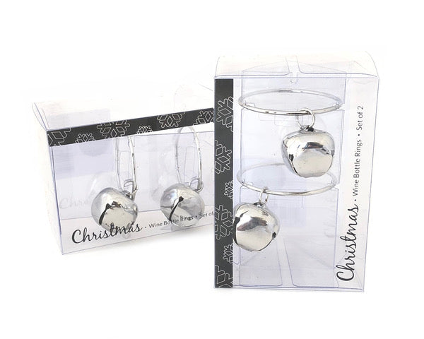 Bottle Bell Rings Silver 2pc