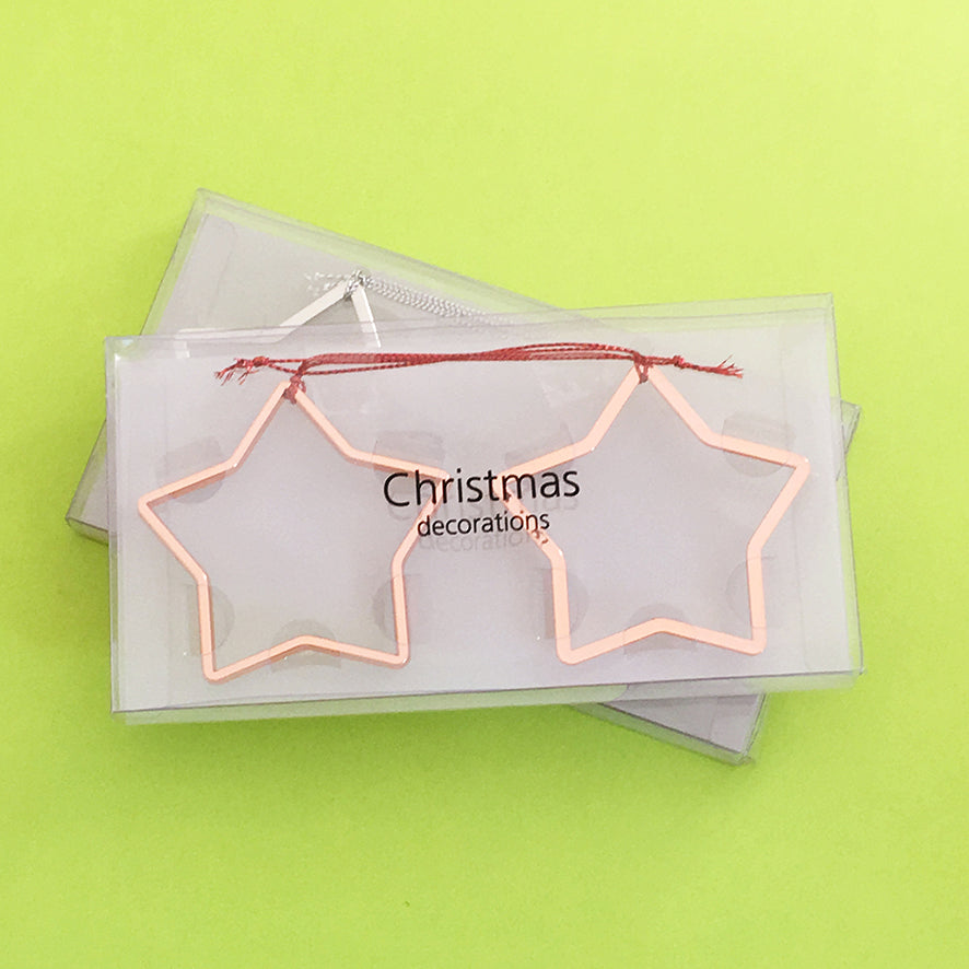 Star Ornaments Rose Gold