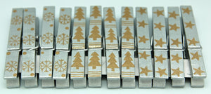 Card Pegs Champagne & Silver