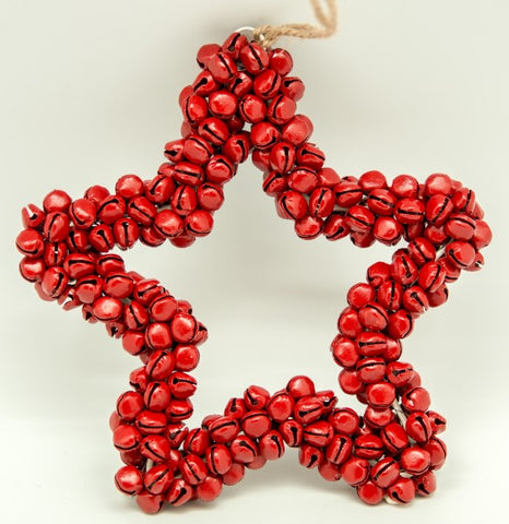 Bell Star Wreath in Red