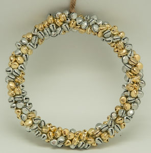 Bell Round Wreath in Silver & Gold