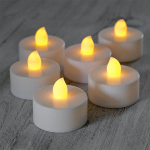 Tealight Flameless Candles with Soft Flicker 12pc