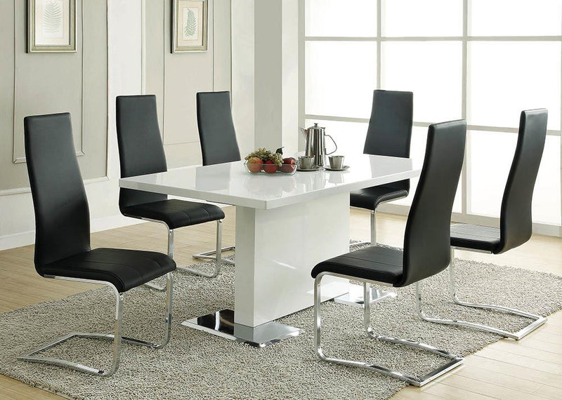 G102310 Contemporary Black and Chrome Dining Chair image