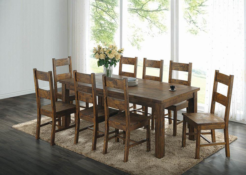 Coleman Rustic Golden Brown Dining Table image