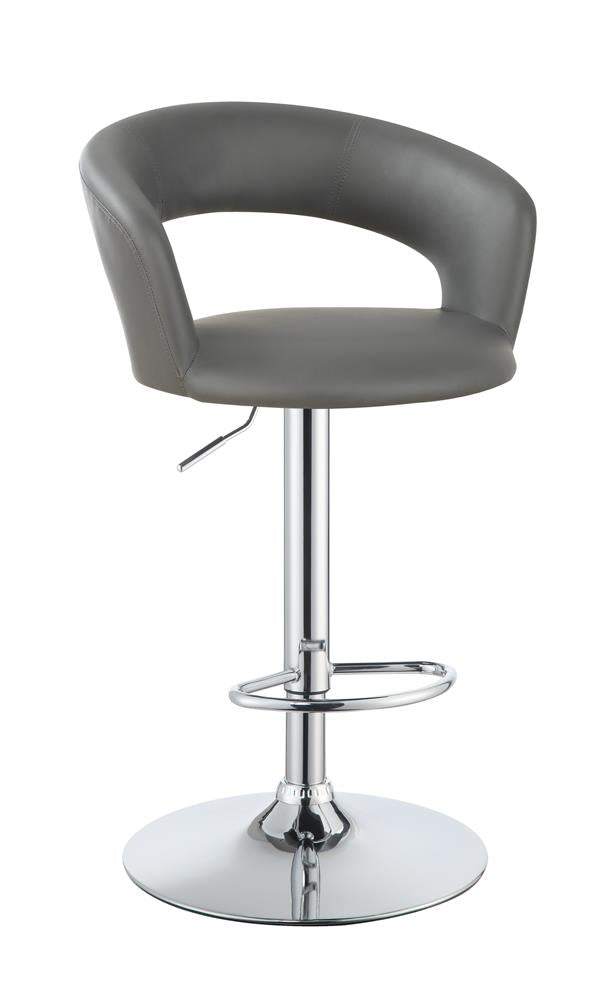 G120346 Contemporary Chrome and Grey Bar Stool image