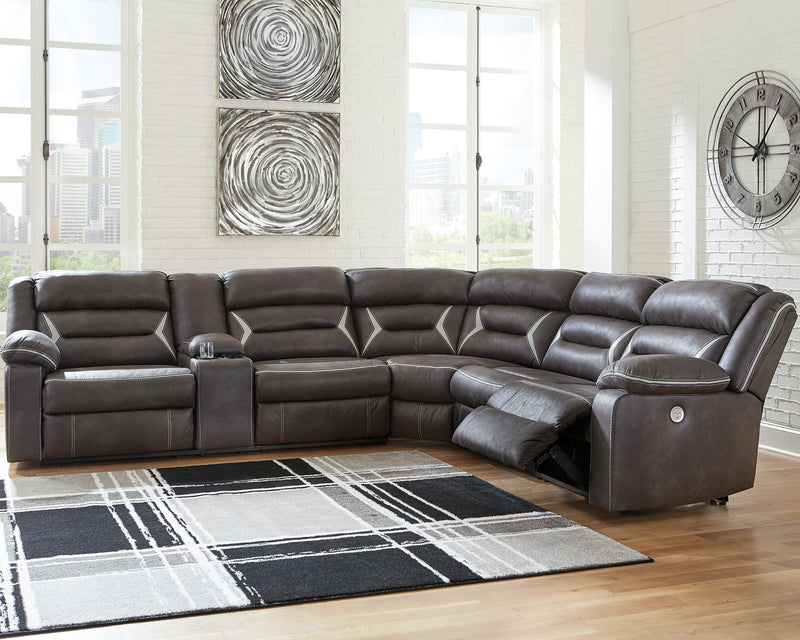 Kincord Signature Design by Ashley 4-Piece Power Reclining Sectional