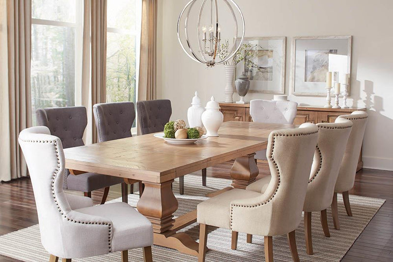 Florence Rectangular Double Pedestal Dining Table image