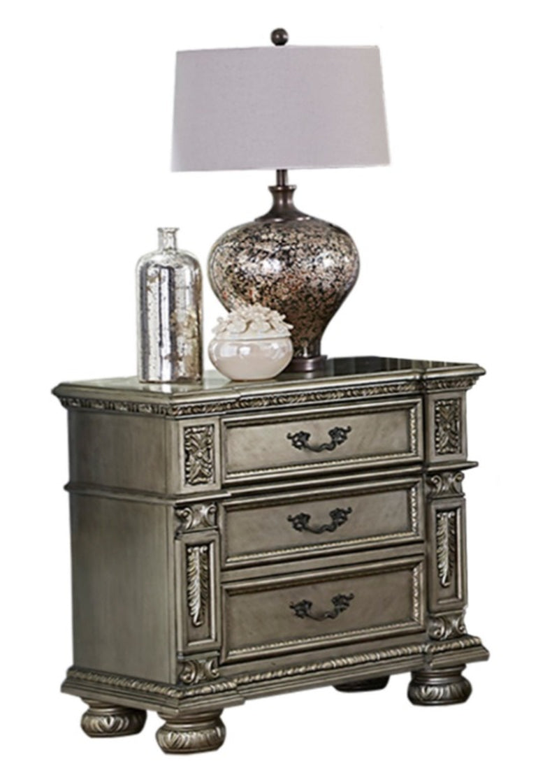 Homelegance Catalonia Nightstand in Platinum Gold 1824PG-4 image