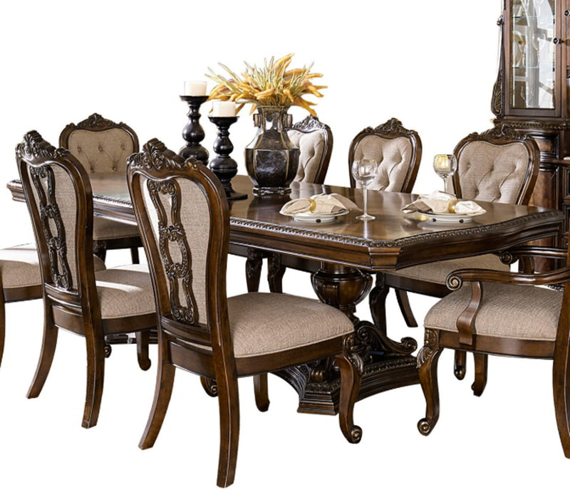 Homelegance Bonaventure Park Double Pedestal Rectangular Dining Table in Cherry 1935-110 image