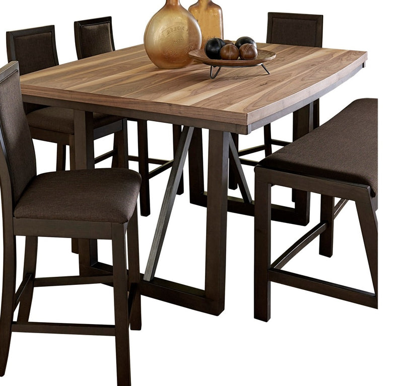 Homelegance Compson Counter Height Table in Natural and Walnut 5431-36 image