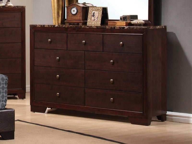 Conner Casual Cappuccino Nine-Drawer Dresser image