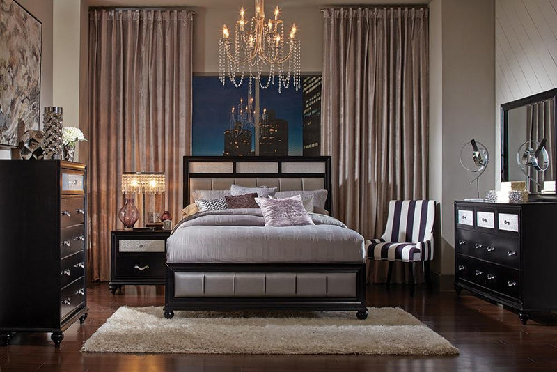 Barzini Transitional California King Four-Piece Bedroom Set
