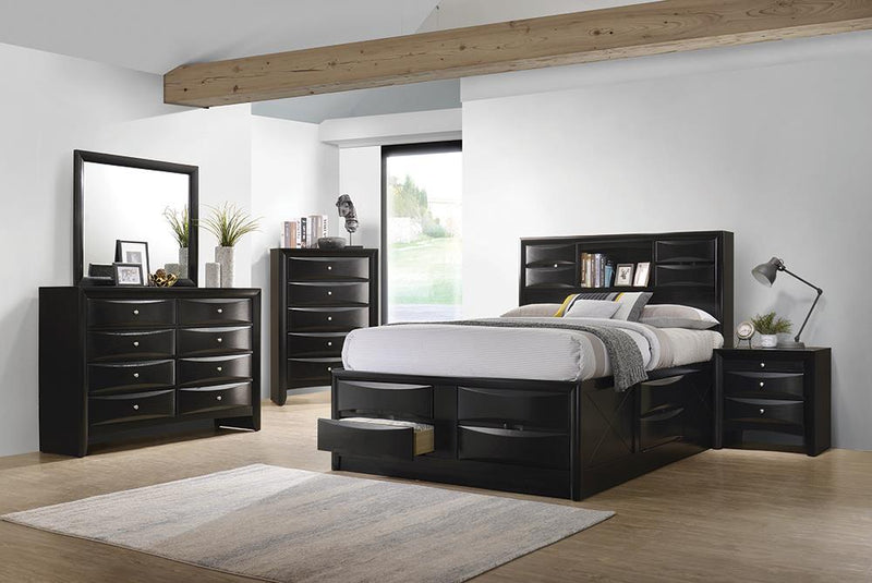 Briana Transitional Black Eastern King Four-Piece Bedroom Set image