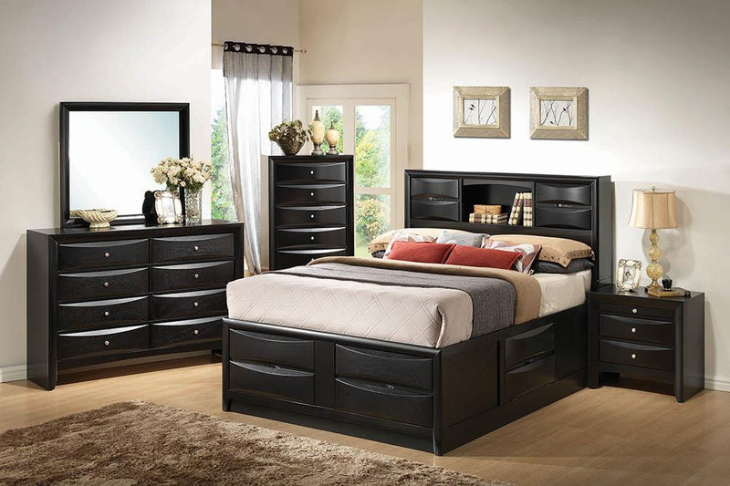 Briana Transitional Black Queen Bed image
