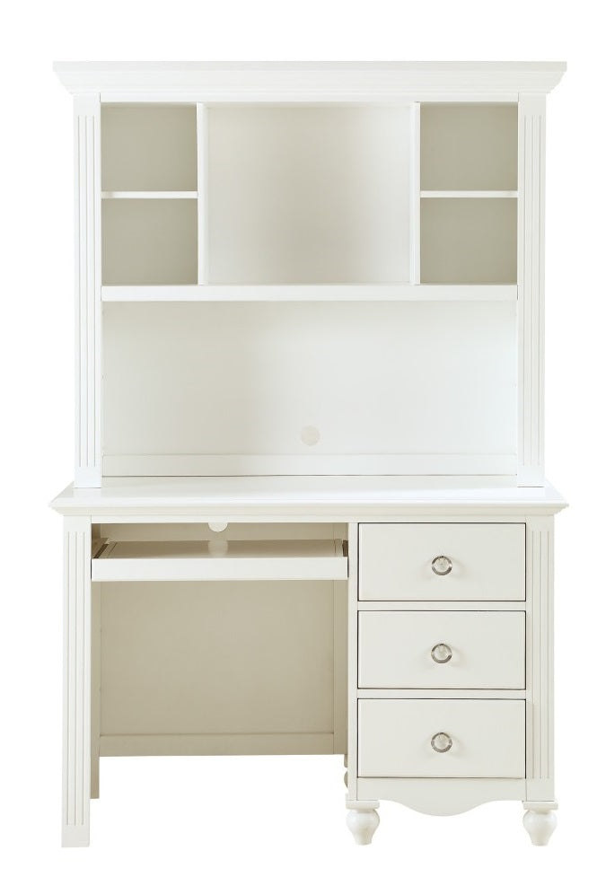 Homelegance Meghan Writing Hutch/ Desk Set in White 2058WH-14* image