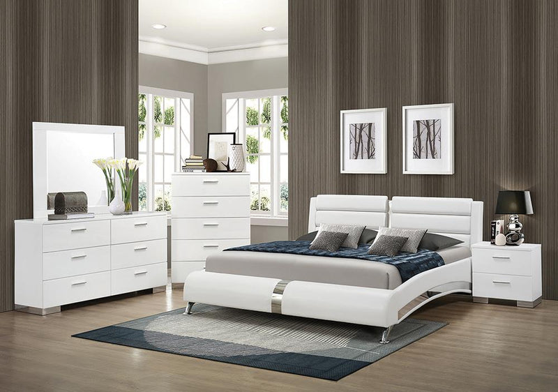 Felicity Contemporary White Eastern King Four-Piece Set image