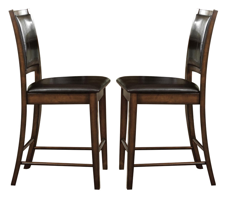 Homelegance Verona Counter Height Chair in Distressed Amber (set of 2) 727-24 image
